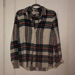J. Crew Rock Salt Boy Flannel Shirt